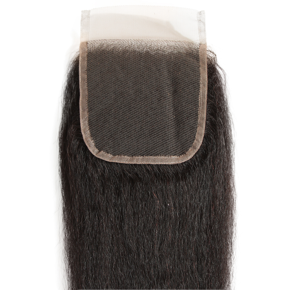 Virgin Remy Kinky Straight Closure 4X4